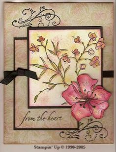 """Heart Blossom **** SU sets: """"Embrace Life"""", """"Priceless"""", """"Hugs and Wishes"""" Card Making Inspiration, Making Ideas, Asian Cards, Tampons, Sympathy Cards, Stamping Up, Flower Cards, Diy Cards, Homemade Cards"""