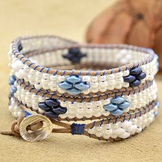 Free Superduo Wrap Bracelet Project Tutorial | Seashore | Beadshop.com