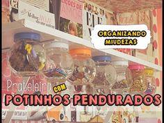 DIY| Prateleira com vidros pendurados ♥