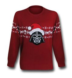 """Invite the Lord of the Sith to your Christmas party this year with this Star Wars Vader Santa """"Christmas Sweater"""" Sweatshirt. This acrylic Star Wars Vader Santa """"Christmas Sweater"""" Sweatshirt shows Darth Vade Star Wars Christmas Sweater, Ugly Xmas Sweater, Christmas Sweaters, Star Wars Dark, Star Wars Love, Deadpool Christmas, Santa Christmas, Christmas Parties, Christmas 2015"""