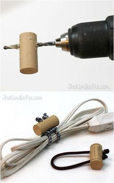 "11 Genius Organizing Hacks for the Most ""Type A"" Person in Your Life - Corral Cords with Corks"