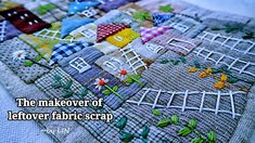 The makeover of leftover fabric scrap┃Idea of sewing project┃ Special gift #HandyMum - YouTube Scrap Fabric Projects, Small Sewing Projects, Fabric Scraps, Diy Purse Tutorial, Hand Applique, Leftover Fabric, Sewing Appliques, English Paper Piecing, Patch Quilt