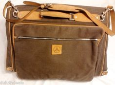 Mercedes Benz Executive Canvas & Leather, Travel Bag, Garment Bag, Carry On. Travel in Style !