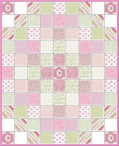Shabby Sweet BabyPrecut Quilt KitAll Pink & Green