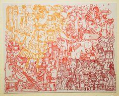"""Volviendo a Jugar"", tamaño 28x35 cm, microfibras de colores /  ""Returning to Play"", size 28x35 cm , color pens Diagram, Map, Chowders, Colors, Drawings, Location Map, Cards, Maps"