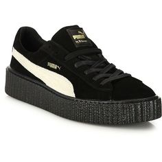 PUMA PUMA by Rihanna Suede Creepers ($140) ❤ liked on Polyvore featuring men's fashion, men's shoes, apparel & accessories, black, mens puma creeper, mens black suede shoes, mens suede shoes, mens black shoes and puma mens shoes