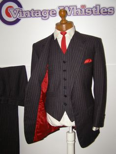 Waistcoat and jacket but purple instead of red