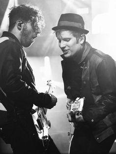Patrick Stump and Joe Trohman from Fall Out Boy