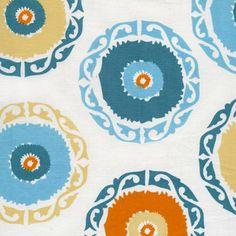 Little House Fabric by the Yard Suzani Orange