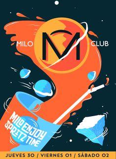 Milo Club Poster on Behance