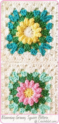 I'm sharing this Blooming Granny Square Pattern. They whip up quickly. Make a bouquet for someone you love.