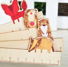 15cm Wild Forest Animals Wooden Ruler Measuring Straight Ruler Tool Promotional Gift Stationery #women, #men, #hats, #watches, #belts, #fashion, #style