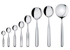 Inga Sempé designs Collo-alto cutlery set for Alessi.