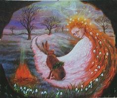 Luna Meets Brigid at Imbolc