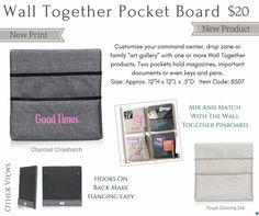 Wall Together Pocket Board from #Thirty-One perfect for school #kids to drop off their folders and paper. or use for  #mail slots
