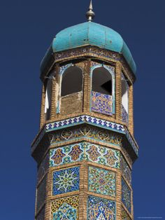 Minaret of the Friday Mosque or Masjet Ejam.  Herat, AFGHANISTAN.