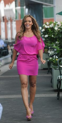 Evelyn Lozado Pink outfit and Heels