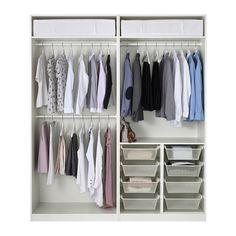 PAX Wardrobe, white, Tyssedal white 78 3/4x23 5/8x93 1/8