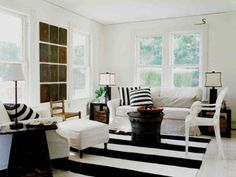 stripes decor | Decorating With Bold Black and White Stripes: Ideas & Inspiration