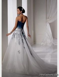 Cool White and royal blue wedding dresses 2017-2018 Check more at http://24myfashion.com/2016/white-and-royal-blue-wedding-dresses-2016-2017/