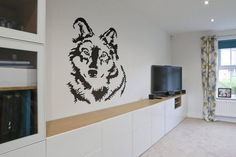 Looking Wolf - Wall decals for magical minds...