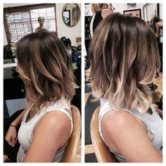 Wavy Lob Hairstyle - Balyage highlights for a long bob, 2016 Hair Color