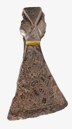 Silver-inlaid axehead in the Mammen style, CE 900s. Bjerringhoj, Mammen, Jutland, Denmark.