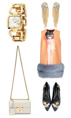 """""""Untitled #196"""" by donia-tanase on Polyvore featuring Prada, Marc Jacobs, Gucci and Alexis Bittar"""