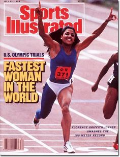 "suchaloverandfighter: "" introvertedwomanistmusings: "" "" …and Flo-Jo "" Flojo was so FLY. "" I did a Black History report on Flo Jo in elementary school. Flo Jo, Us Olympics, Summer Olympics, Olympic Trials, Sports Illustrated Covers, Sport Icon, Sports Figures, African American History, American Women"