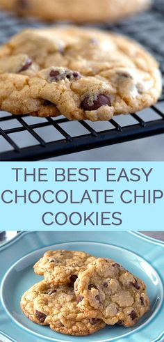 The Best Easy Chocolate Chip Cookies Recipe - An easy chocolate chip cookie reci. The Best Easy Chocolate Chip Cookies Recipe - An easy chocolate chip cookie recipe made in minutes. These are the best homemade chocolate chip cookies. Best Easy Chocolate Chip Cookie Recipe, Homemade Chocolate Chip Cookies, Easy Cookie Recipes, Cookie Desserts, Dessert Recipes, Yummy Recipes, Homemade Cookie Recipe, Simple Cookie Recipe, Recipes