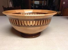Segmented Bowl with open segmented ring by CreationsByKenV on Etsy