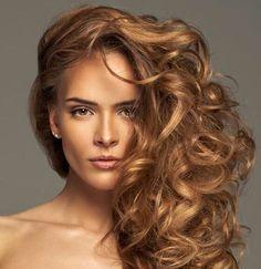 Golden light brown hair