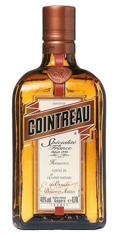 Cointreau Orange Liqueur: absolutely essential for cocktails, desserts, sauces and holiday punches. Sweet, dark and deep, with added complexity through the citrus zing and the slightest hint of bitterness. Mixed Drinks, Fun Drinks, Alcoholic Drinks, Beverages, Rum Bottle, Liquor Bottles, Martini Recipes, Wine Recipes, Jars