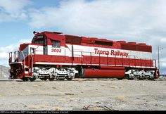 Trona Rly 3003   Description:  TRC 3003. Rebuilt SD45-2 ATSF 5710.   Photo Date:  2/19/1993  Location:  Trona, CA   Author:  Steven Vincent  Categories:  Roster  Locomotives:  TRC 3003(SD40-2R)