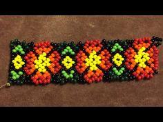 Huichol Beading Mexcian Bracelet or Necklage , Meksikan Boncuk Ağ Modeli Bileklik yada Kolye Yapımı - YouTube