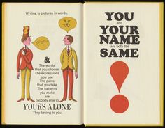 """John Alcorn   illustrations and typography for """"Writing!"""" by Murray McCain. Simon and Schuster, 1964"""