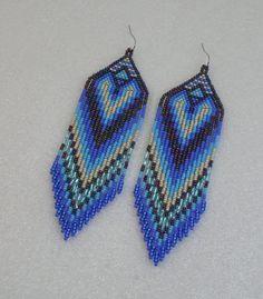 Fringe earrings Ethnic style Long Indian style beads