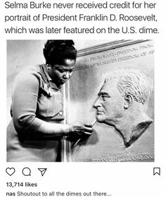 #SelmaBurke. ❤ Brilliant artist. It's up to us, those who not only care, but revere this quiet extraordinary history, to be its curators for posterity. -m