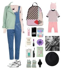 """""""Together forever with my baby boo"""" by mydlak-katarzyna ❤ liked on Polyvore featuring New Balance, Oasis, Narciso Rodriguez, Nailmatic, NOVICA, M.i.h Jeans, River Island, MAC Cosmetics, Lulu Guinness and CLUSE"""