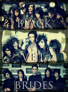 The beautiful evolution of Black Veil Brides! Jake Pitts, Andy Biersack, Love Band, Cool Bands, Vail Bride, Screamo Bands, Bvb Fan, We Are The Fallen, Black Veil Brides Andy