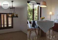 ANTES Y DESPUES. Home Staging en comedor.