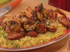 Spanish Shrimp and Chorizo with Sweet Pea Couscous