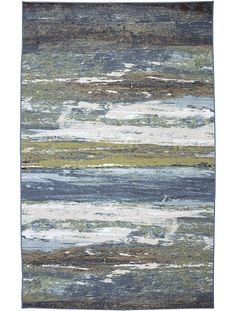Abstract Shore area rug, Blue-spa color | AmericanRugCraftsmen