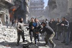 SYRIA-CRISIS_.jpg  Shelling from forces loyal to President Bashar Al-Assad in Aleppo's Bustan al-Qasr neighborhood.