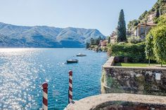 STATS 12 BEDROOMS 12 BATHS 10,330 SQ. FT. $19 MILLION     This renovated 1820 villa is located on the shores of Lake Como. Boasting a dock directly on the lake, the grounds also feature an elegant wrought-iron gazebo and mosaic swimming pool.