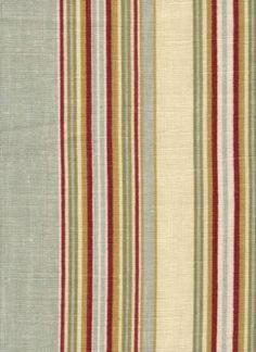 "Ensemble Stripe Robins Egg  Waverly Fabric Rayon linen Up the roll stripe. print. 13"" repeat 54"" wide $20.00 value"