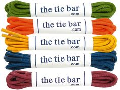 The Tie Bar Waxed Shoelaces