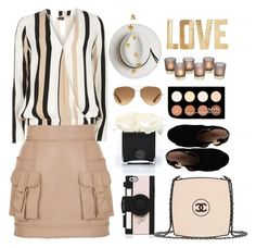 """""""Day out!"""" by taniouche16 ❤ liked on Polyvore featuring Balmain, Dorothy Perkins, Chanel, Tory Burch, NYX, PBteen, Hervé Gambs, Kate Spade, Calypso Private Label and Stella & Dot"""