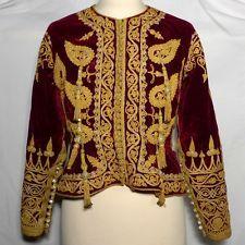 Veste Ottomane XIXème Broderie Ancien Fils Or Argent Femme