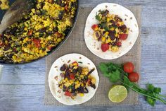 A tofu scramble with a Mexican twist and kick! So versatile you can serve  it for breakfast, brunch, lunch or dinner.